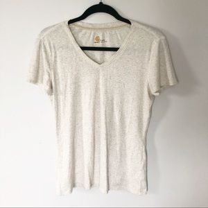 Carhartt cream heathered t shirt size small
